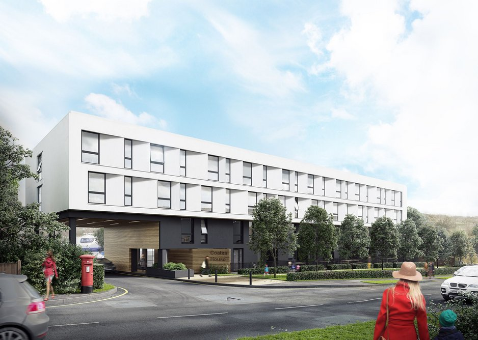 Coates House, Nailsea redesigned by Snug Architects with 55 flats – but this is only part of the solution.