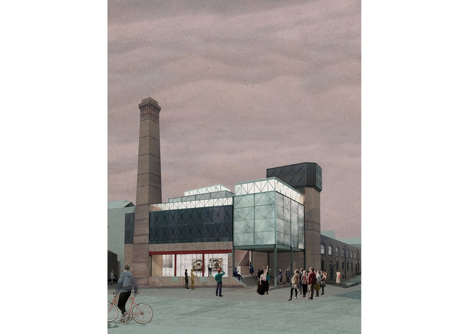 Proposal for a new public art gallery for Goldsmiths University.