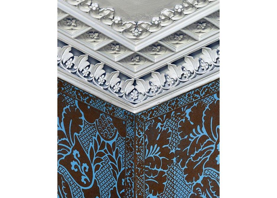 Detail of ceiling in Mr Walpole's Bedchamber.