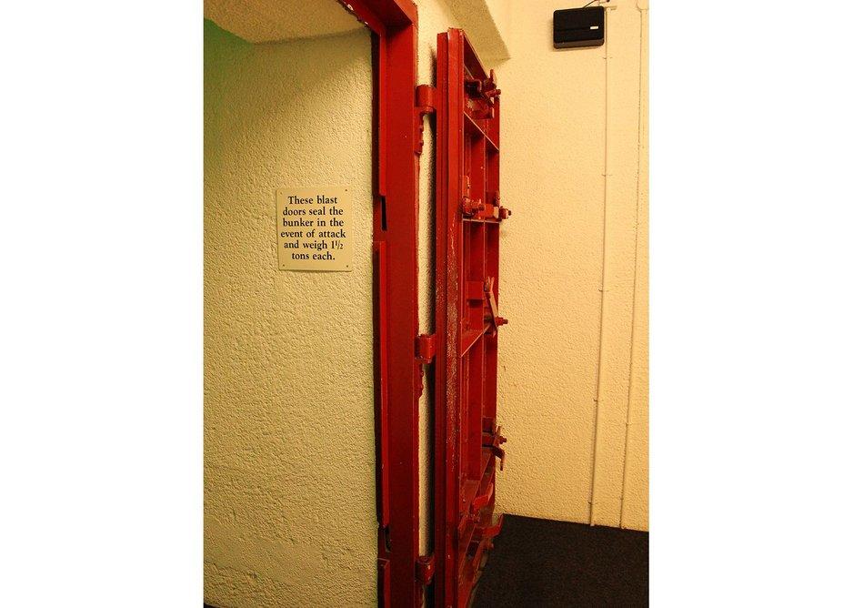 Blast doors at Scotland's Secret Bunker, Troywood, Fife.
