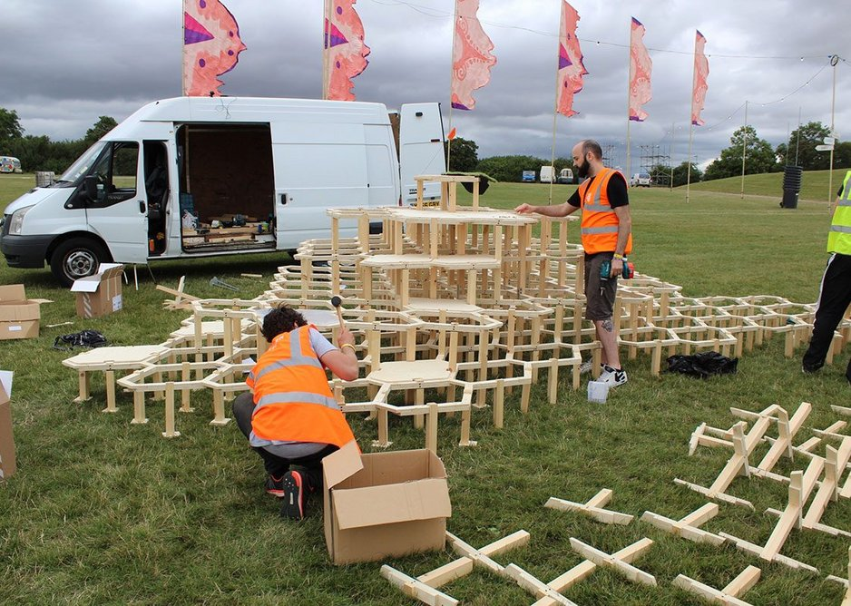 Cairo Construction at Secret Garden Party Festival by Nick Tyrer, Jak Drinnan and Abstract Machines.