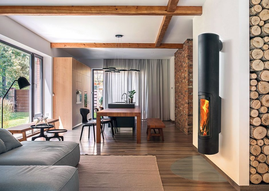 The new Slimfocus compact fireplace wall version.