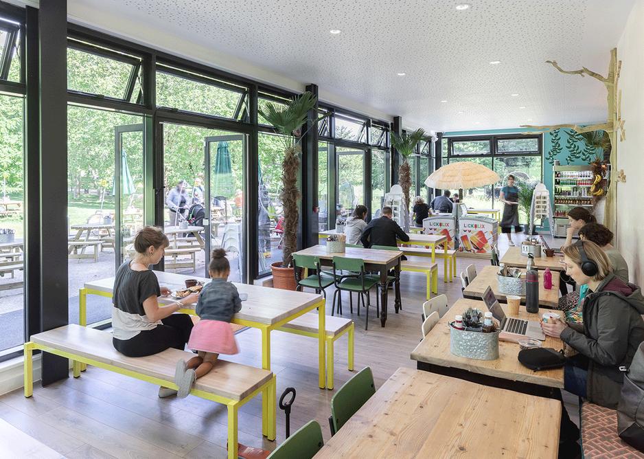 Inside the ground floor café.