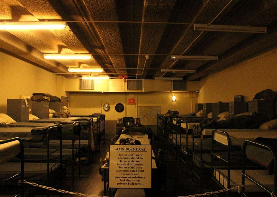 Staff dormitory at Scotland's Secret Bunker, Troywood, Fife.