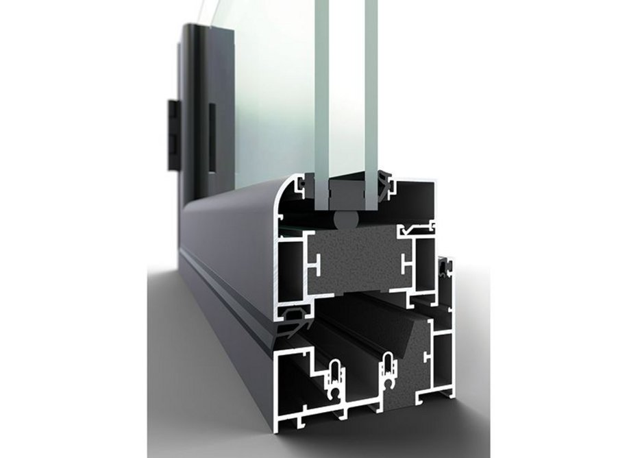 Pure windows are able to receive double or triple glazing up to 50mm.