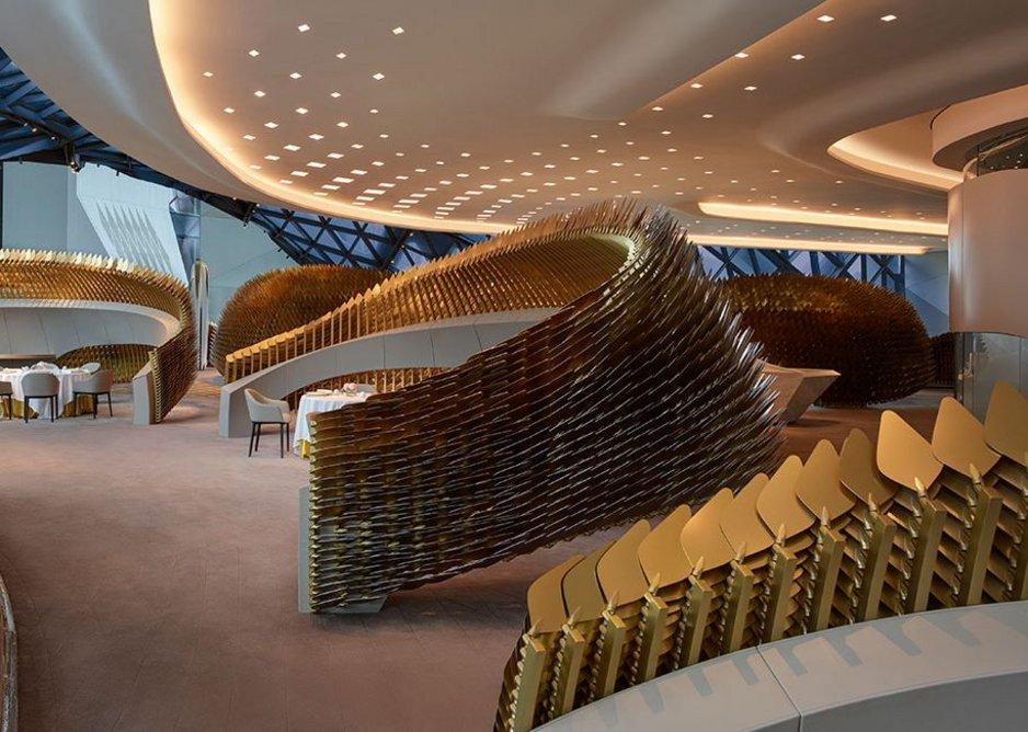 Basket weave seating areas