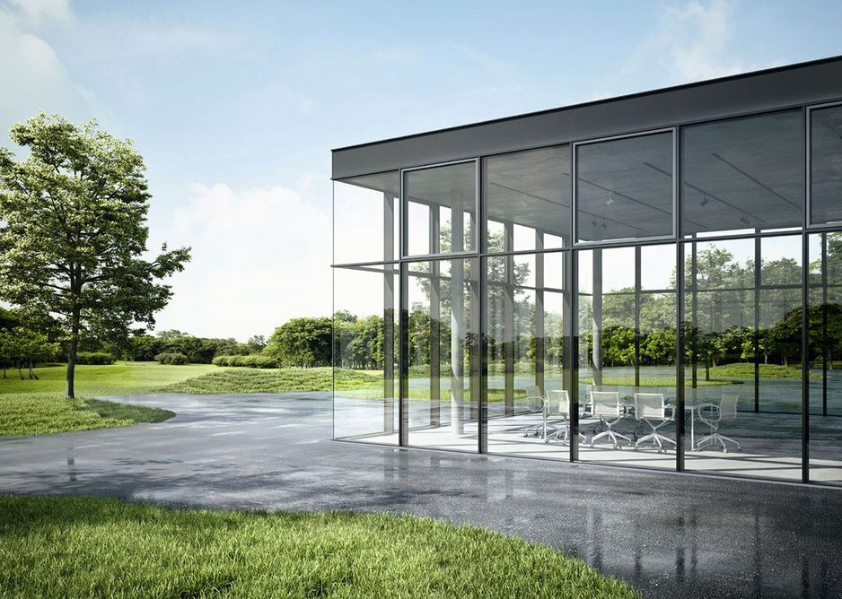 Schueco's glass corners create a sleeker, more contemporary look from outside.