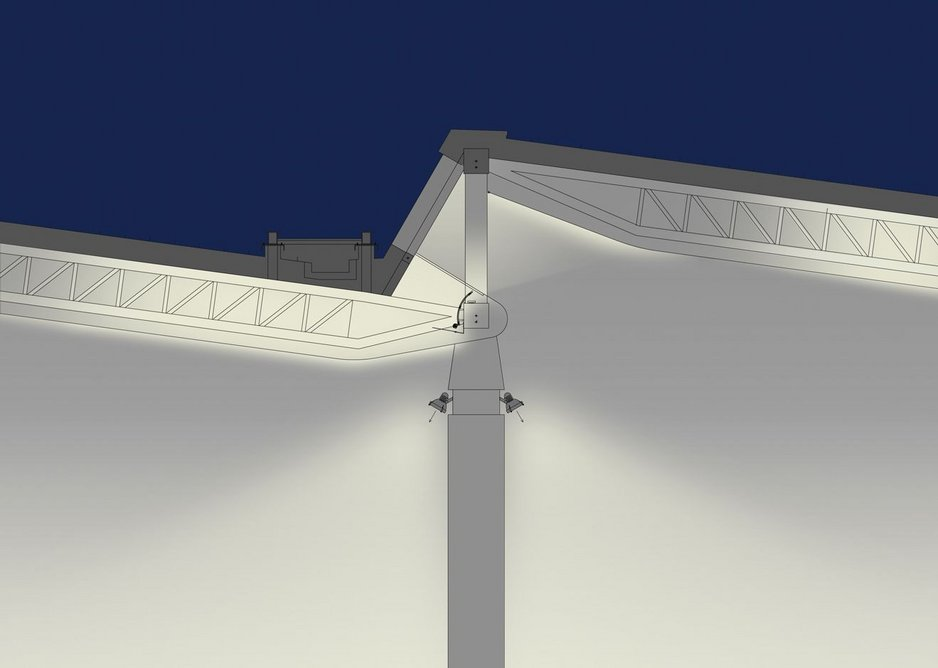 Roof lighting: Night