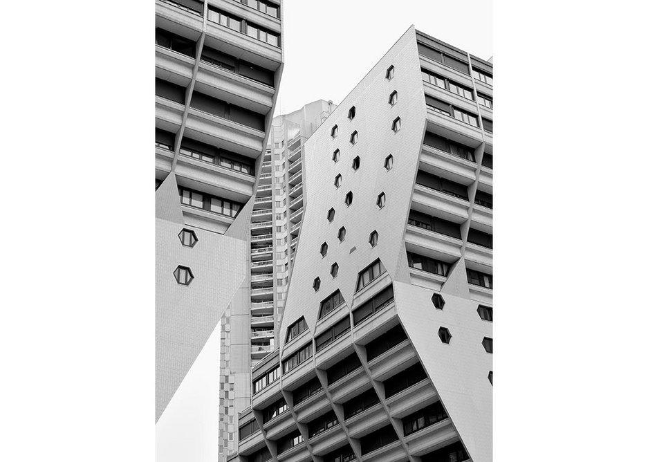 'Les Orgues de Flandre' social housing, designed by Martin S van Treeck, 1973-80.