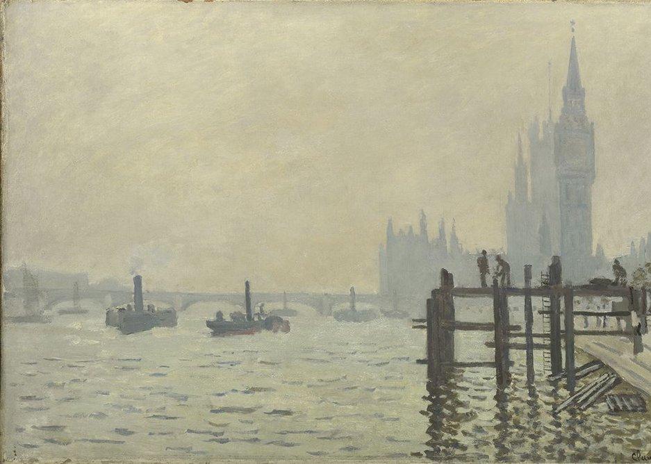 Claude Monet, The Thames below Westminster (La Tamise et le Parlement), about 1871.