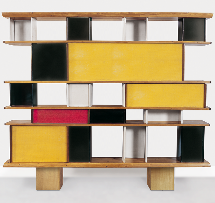 Bookcase by Charlotte Perriand for the Maison du Mexique, 1952. © ADAGP, Paris and DACS, London 2020. From Charlotte Perriand: The Modern Life at the Design Museum