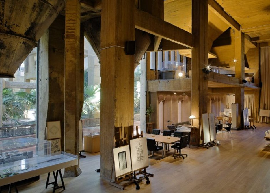 'The Cathedral' at the old cement factory is used for events and exhibitions.