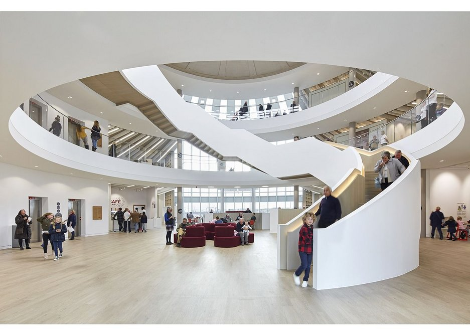 A new public agora: the library atrium is a forum for events and activities.