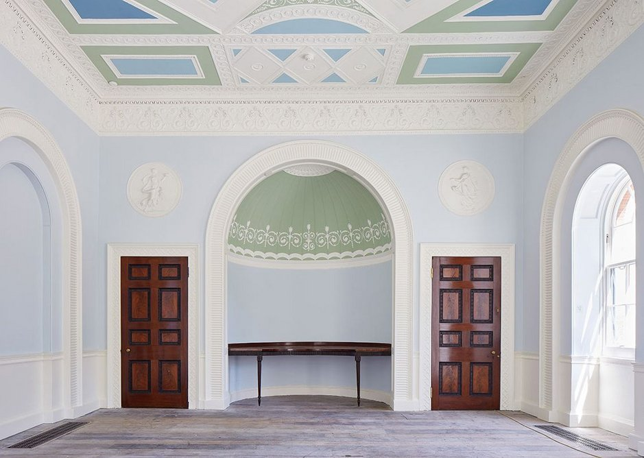 The eating room, Pitzhanger Manor, Ealing, London (2019) designed by John Soane and reworked by Jestico + Whiles and Julian Harrap Architects.
