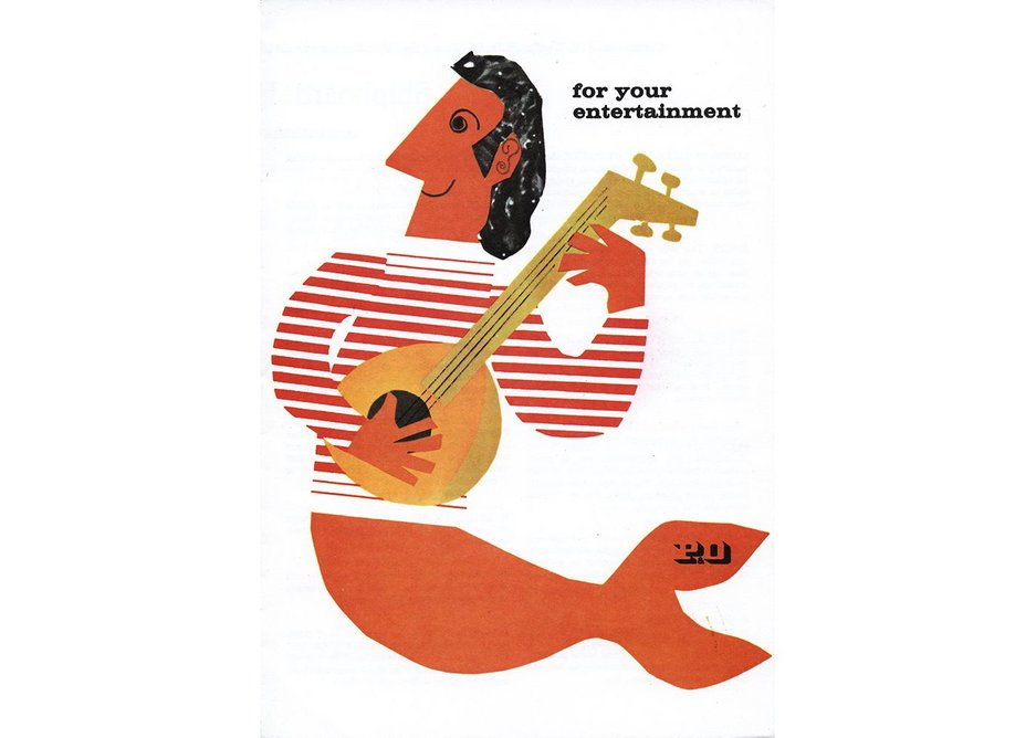 An entertainment card first designed by Dorrit Dekk in mid 1962, P&O Heritage Collection.