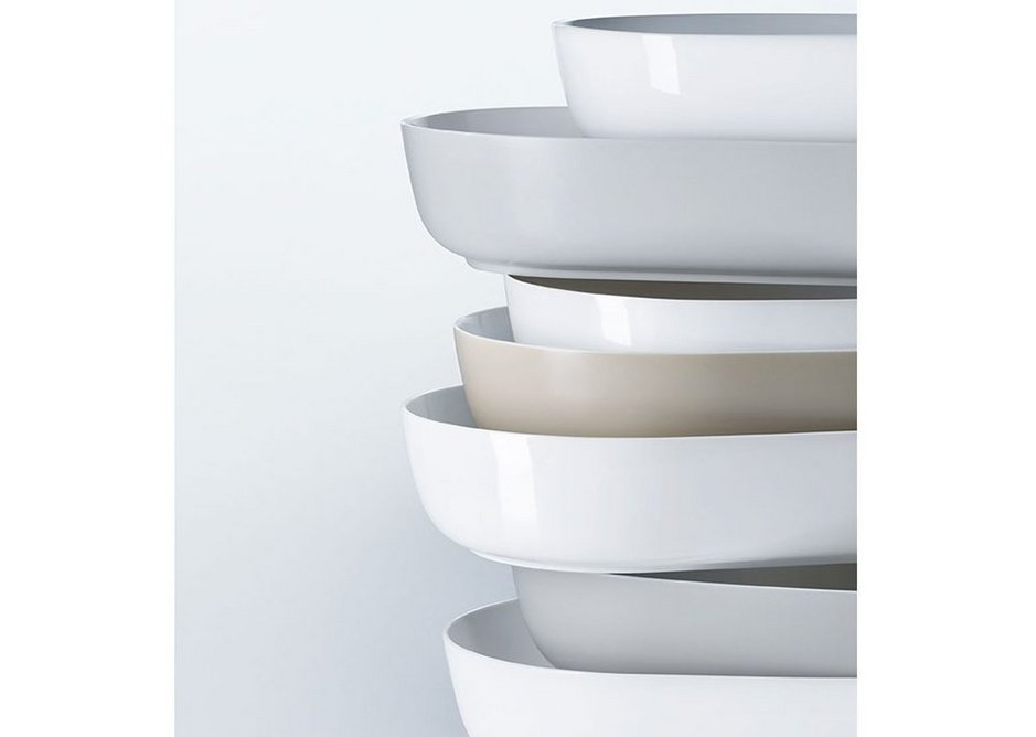 Luv basins are available in White, Grey and Sand matt exterior surfaces as well as classic Glazed White.