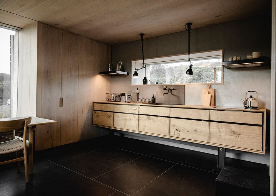 Simplicity belies the endeavour. The is all Dinesen HeartOak, manufactured by a specialist joiner.