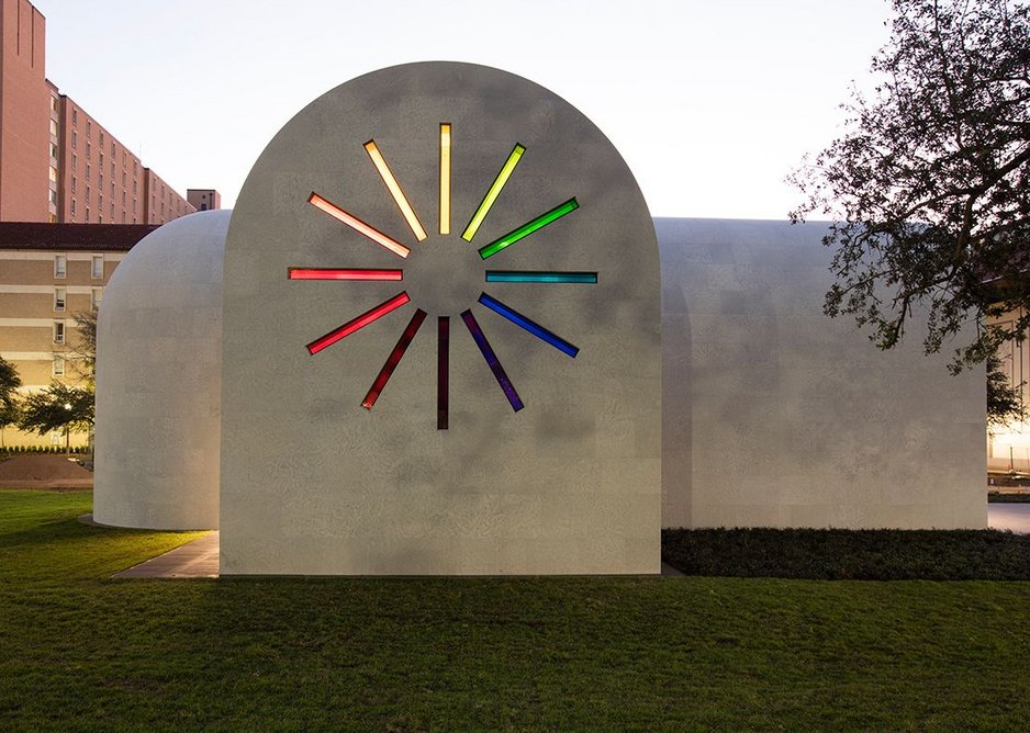 Austin, the secular chapel designed by Ellsworth Kelly and completed this year by Overland Architects. Ellsworth Kelly Foundation.