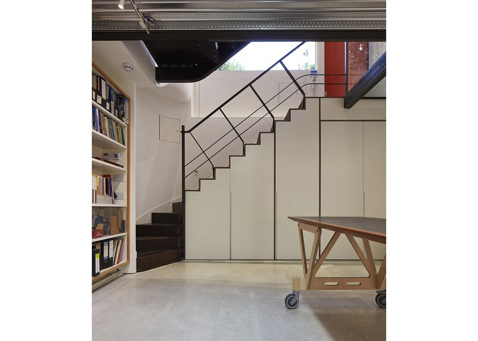 Store cupboards under the staircase.