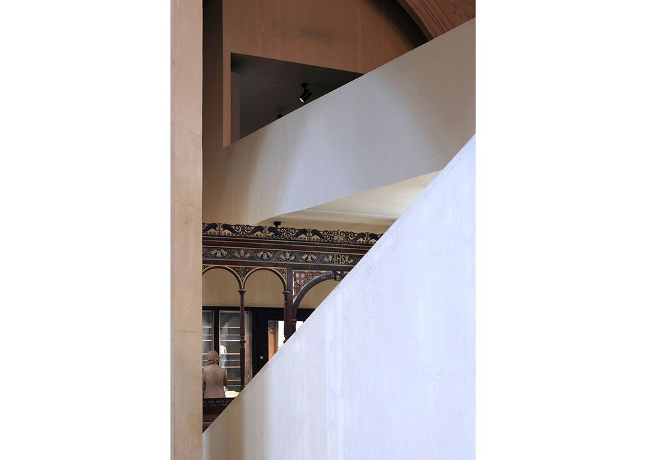 Dow Jones has designed the CLT forms to frame and work around the existing church.