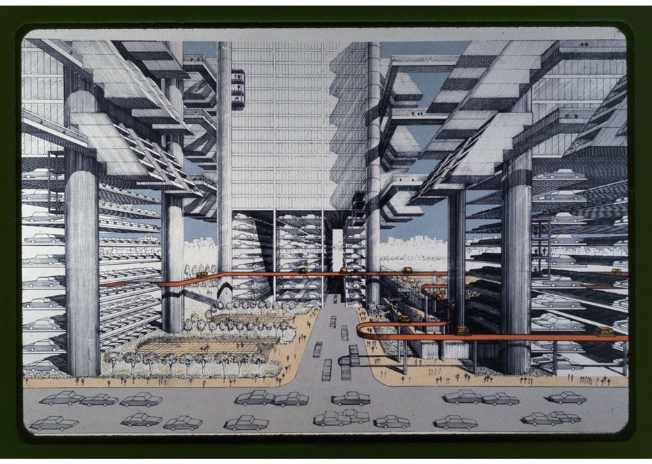 Lower Manhattan Express Way, 1967 design study by Paul Rudolph, commissioned by the Ford Foundation.