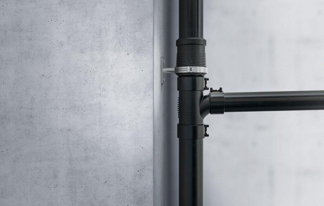 Geberit's Silent-dB20 sound-optimised drainage piping.