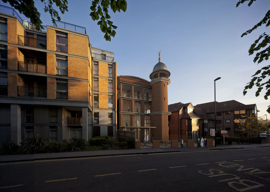 Purley mosque by Benedict O'Looney Architects.