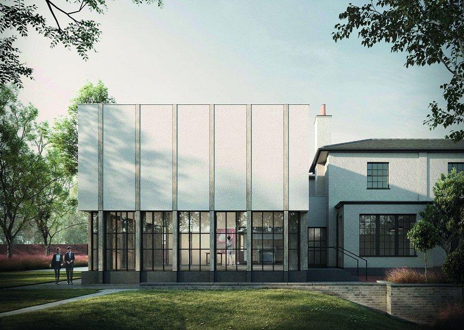 External visualisation of art studio at Thorpe Lodge.