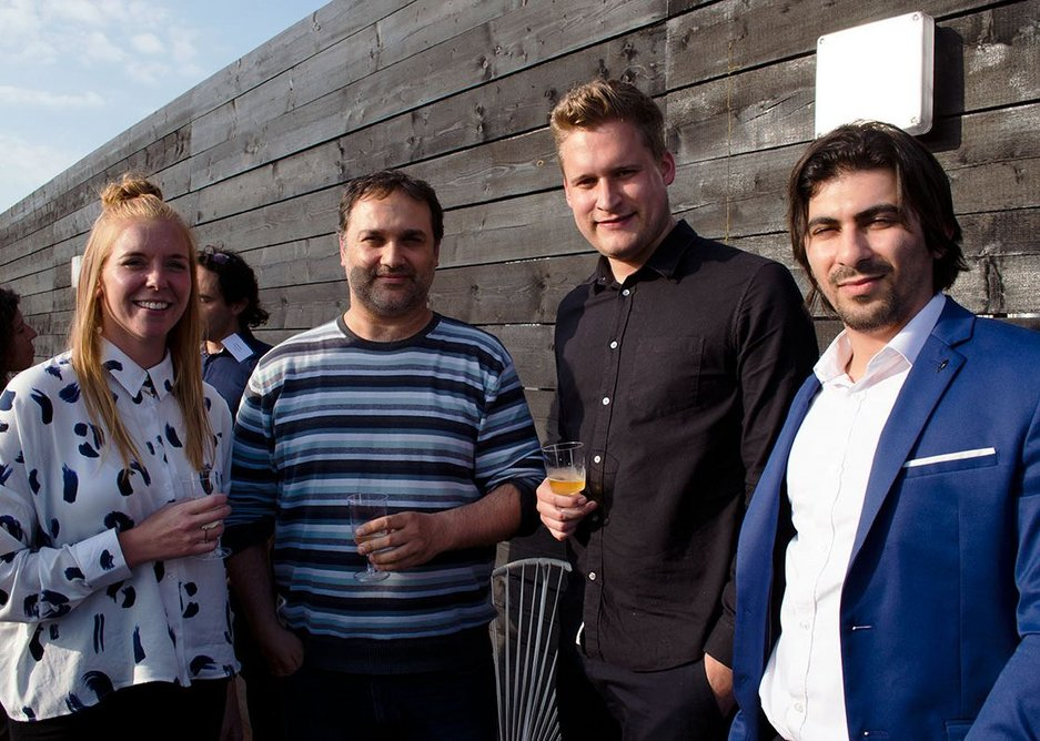Welcome drinks on the roof terrace