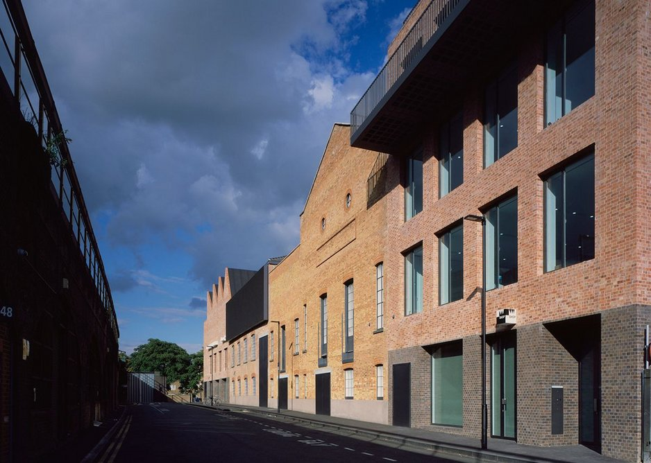 The back of Newport Street Gallery in Vauxhall, London.