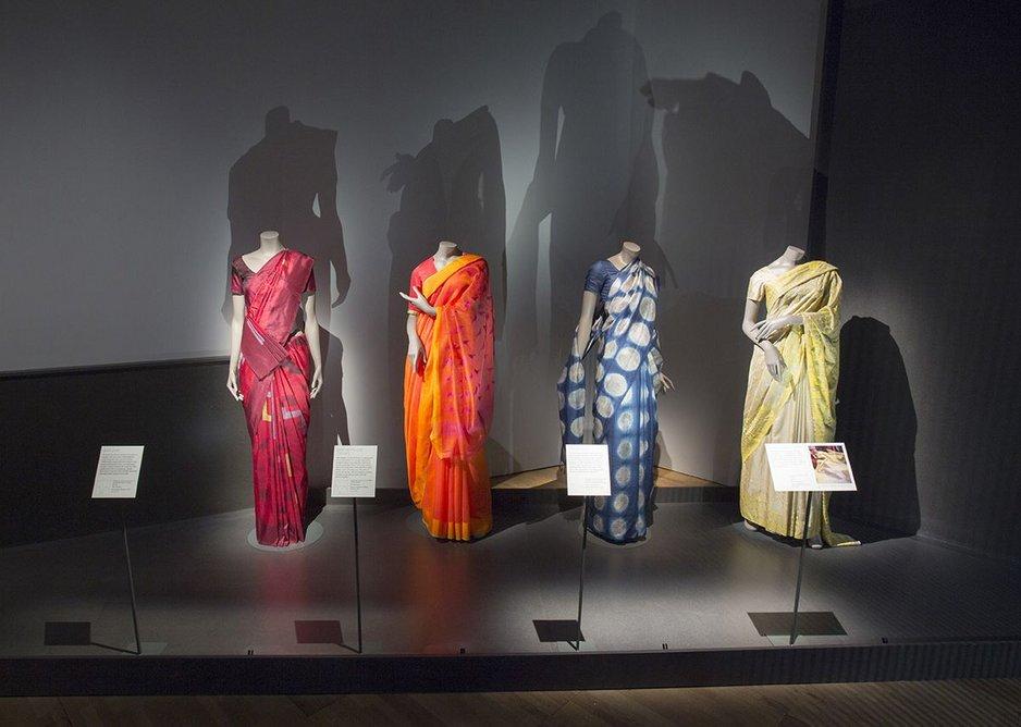 Richly coloured saris.