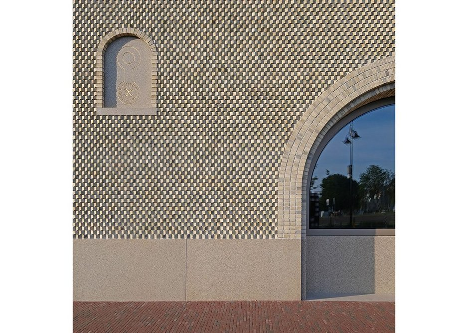 The north elevation's brickwork required a number of 'specials' to generate its curious pixelated quality.