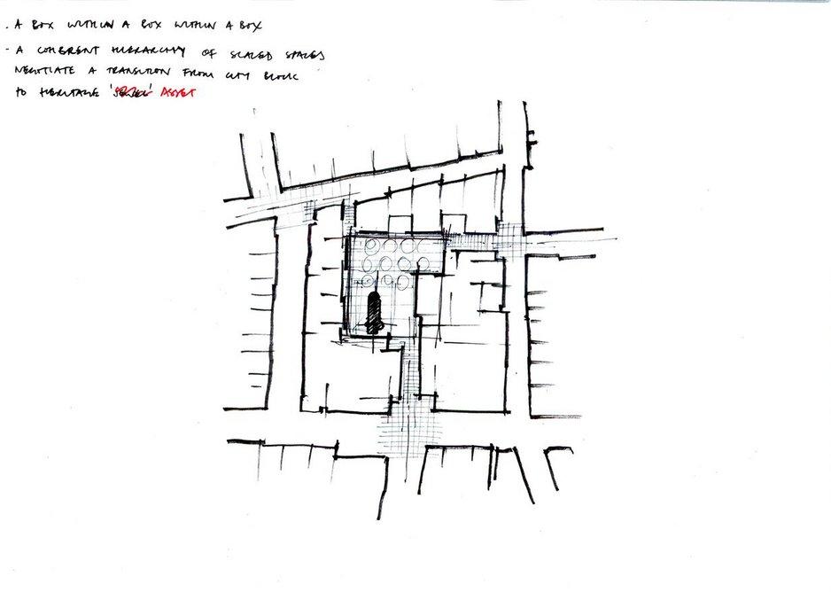 Sketch of masterplan.