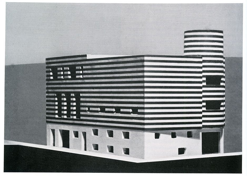 Model Joséphine Baker House in Avenue Bugeaud, París, 1927 by Adolf Loos.