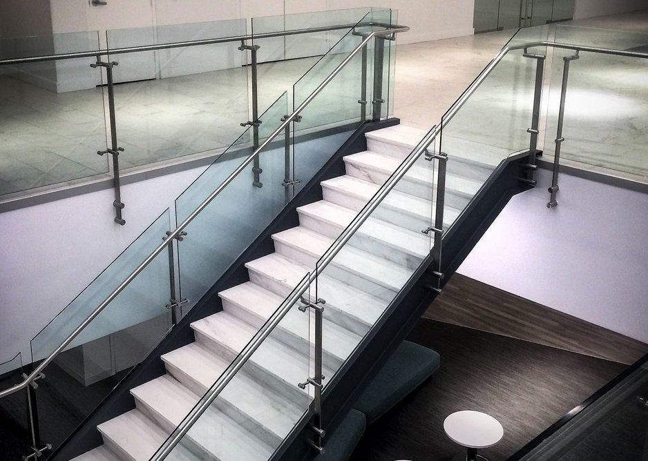 HDI Railing Systems' Kubit balustrade, Fullbeauty Brands, New York City.