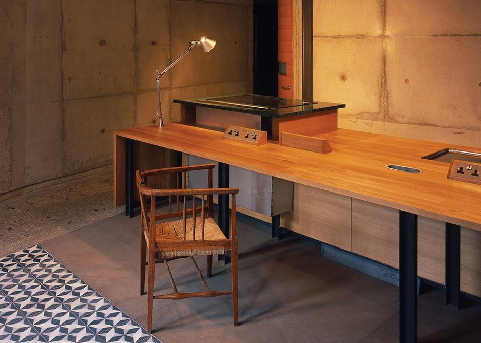 The design and craft of bespoke kitchens suggests more a study space than a culinary one.