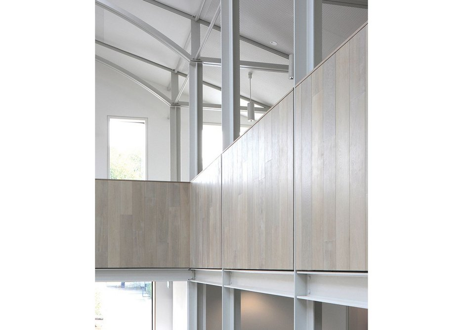Fine steel detailing brings a layer of nuance to essentially simple spaces.