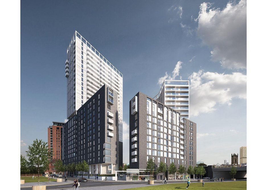 Projects are increasing in scale, OMI's Greengate in Salford.
