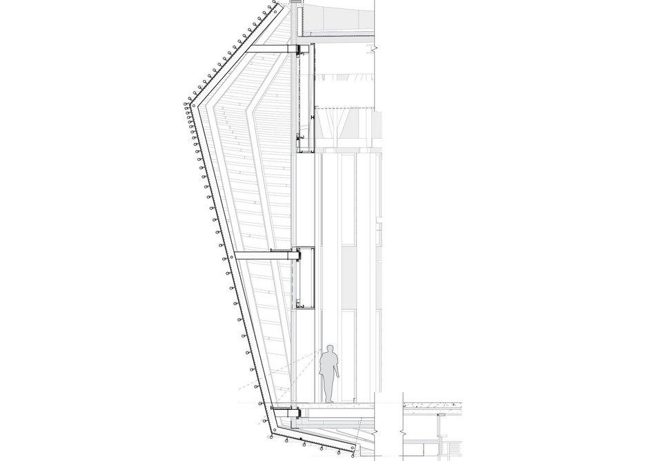 Cinema pipe facade section