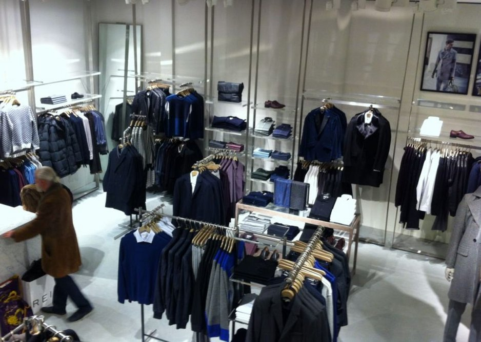 Off White Polished Concrete at the Reiss store, Newcastle.