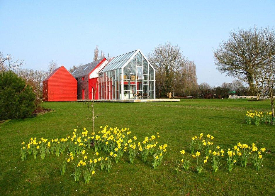 Sliding House, Suffolk. Fully open.