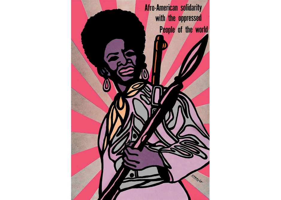 Afro-American Solidarity with the Oppressed People of the World, Emory Douglas, 1969. Collection of the Oakland Museum of California.