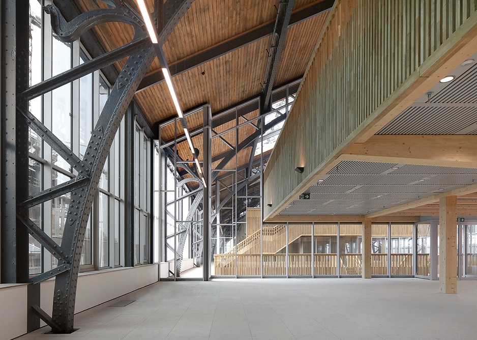 The epic-scale CLT pavilion structures were manufactured in epicea by Austrian firm Züblin.