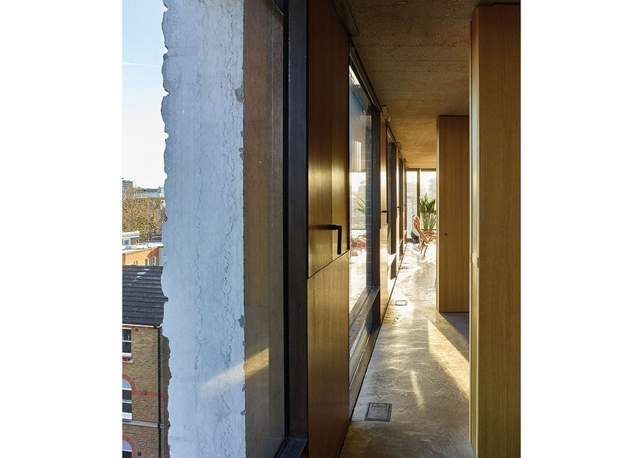 Surface finishes from outside to in, expressed simply and 'raw'.
