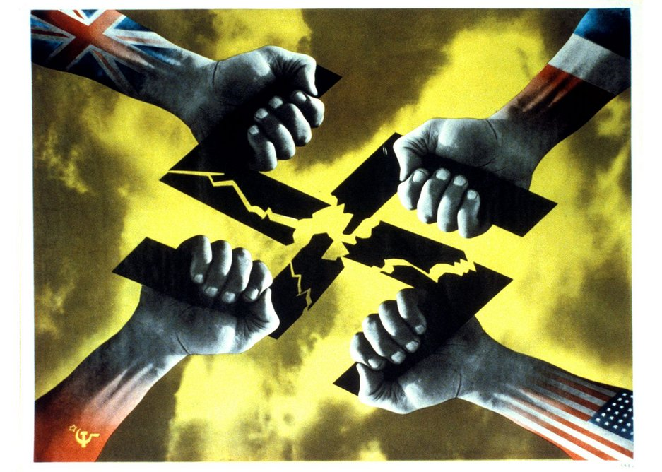 Four Hands poster, 1944 designed by FHK Henrion.
