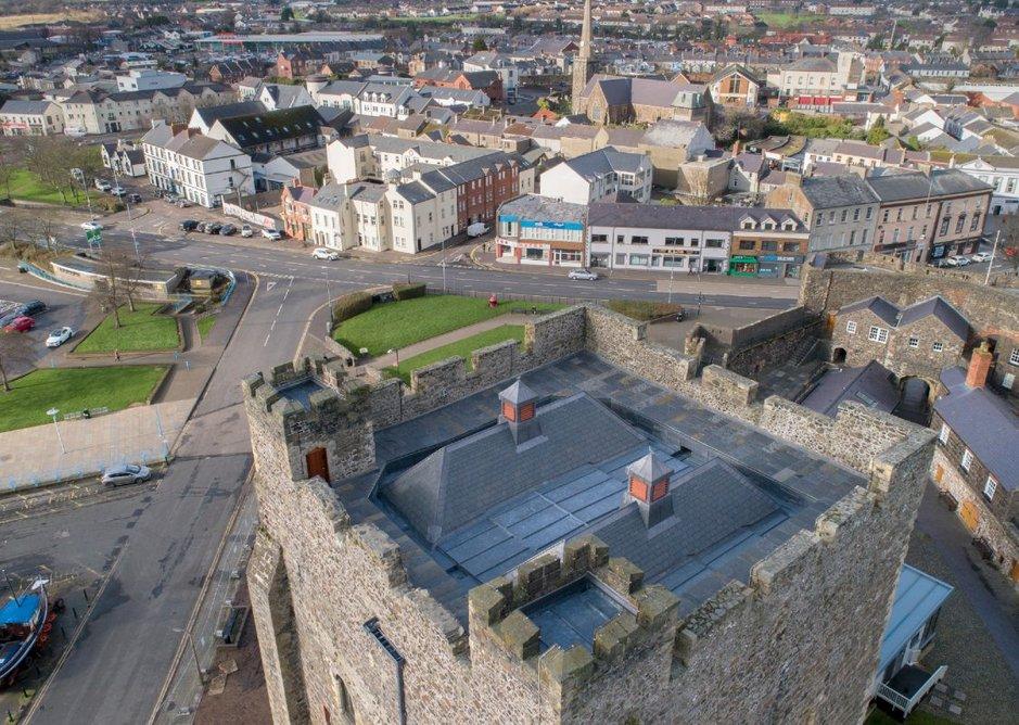 Carrickfergus Castle Roof Replacement.