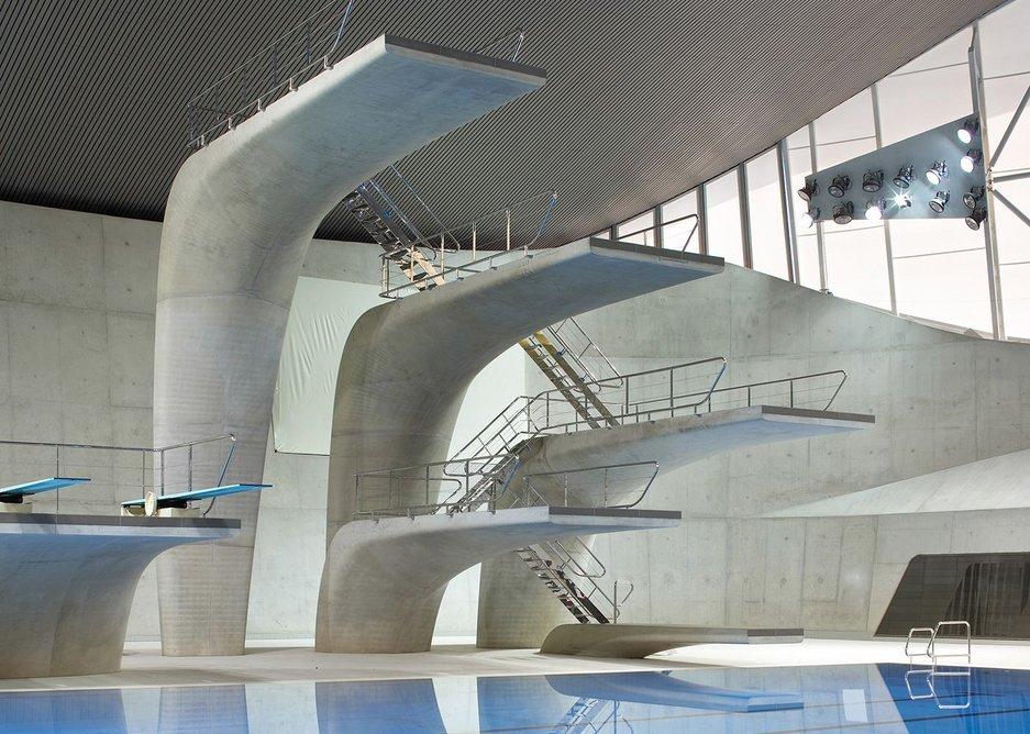Aquatics Centre, Queen Elizabeth Park, London, by Zaha Hadid Architects.