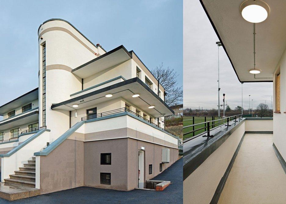 Balconies and walkways at Mountblow Sports Pavilion, Glasgow, refurbished with BMI Sealoflex Endura.