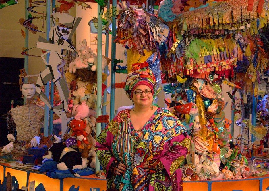 Camila Batmanghelidjh poses with inspirational carousel.