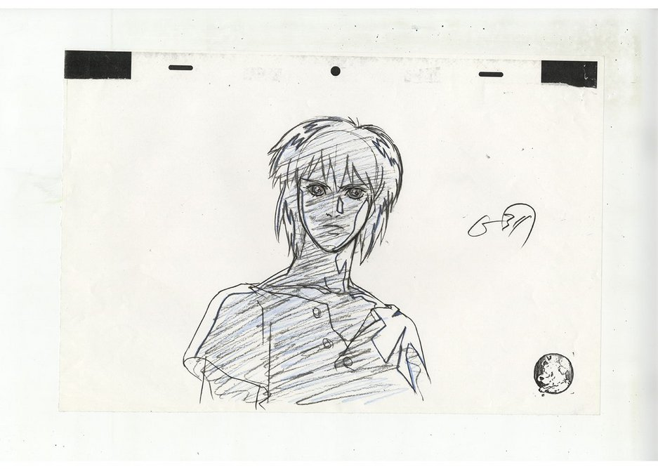 Layout for Ghost in the Shell cut 311, illustrator unknown.